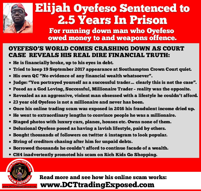 Elijah Oyefeso sent to prison