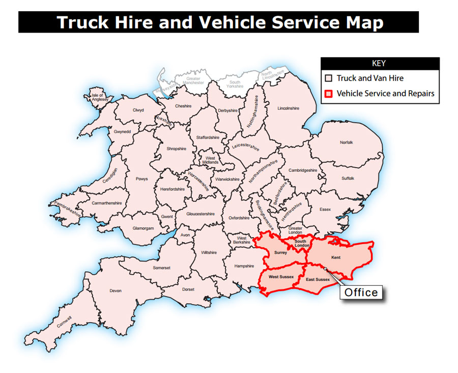 East Sussex, Kent, Surrey Vehicle Hire